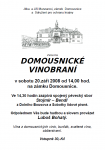 Domousnické vinobraní (leták, 2008)