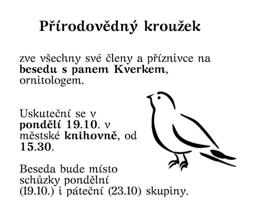 Pozvanka_Beseda s panem Kverkem 19.10.2015